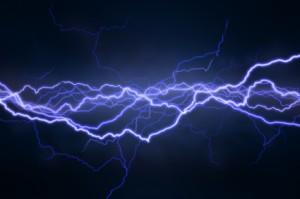 blue purple horizontal several strands lightning istock