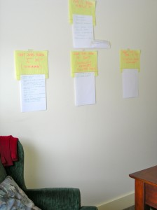 Structure for my book on wall in studio at VSC February 2011