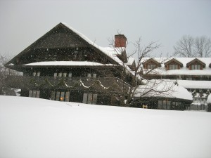 Trapp Family Lodge in snow, Stowe VT February 2011