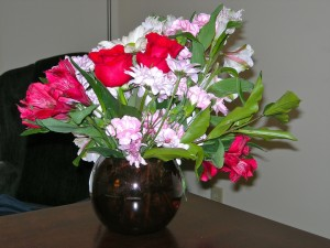 Valentine flowers from Larry, VSC VT February 2011