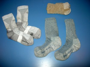 Three pair hiking socks